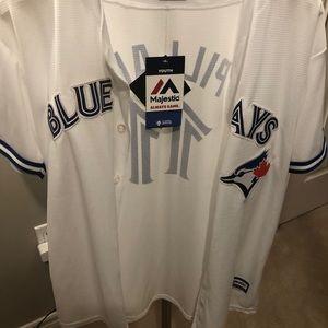 Authentic BNWT BJS MLB Pillar Home jrsy SZ yuth XL